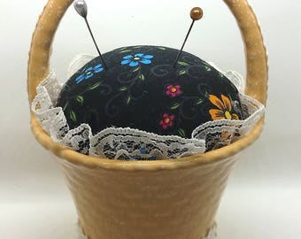 Flower Basket Pin Cushion