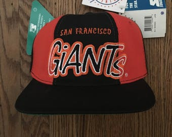 Vintage 90s Deadstock Starter San Francisco Giants MLB Snapback Hat Baseball Cap