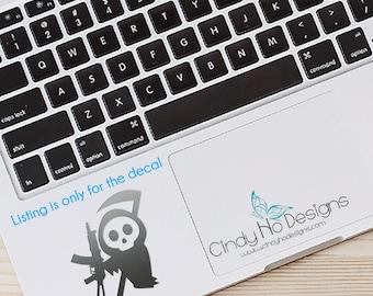 Cute AK47 Little Grim Reaper Decal / Sticker - Kawaii - Macbooks, iPhones, iPad, Tablet, Halloween, Car Windows