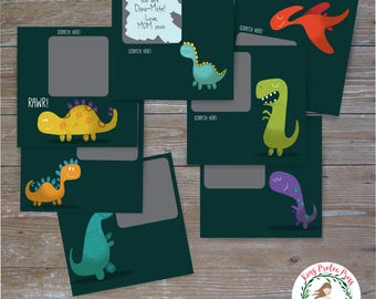 Dinosaur Scratch Off Lunch Box Notes, Lunch Box Notes, Lunch Notes, School Lunch Notes, Scratch Off Lunch Notes, Lunch notes, Scratch offs