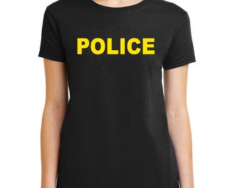 POLICE T-Shirt Law Enforcement Officer shirt Mens Womens Kids sizes