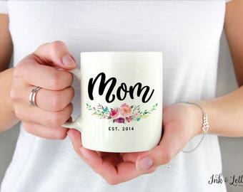 Baby Shower Gift  - Mother's Day Gift - Birthday Gift for Mom - New Mom Gift - Typography Mug - Gift for Her - Coffee Cup - Gift for Mom
