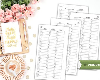 Yearly overview 2018 - quarterly overview - printable planner insert - Filofax personal - printable insert - print at home - personal insert