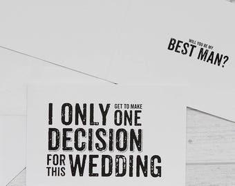 Best Man Card - Quirky Best Man Card