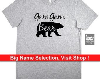 Grandma Shirt, GamGam Bear Shirt - 3 Style To Choose From ---> Unisex Tee ---> Womens Slim Fit ---> Tank Top- Gam Gam Shirt, Gift For Gma