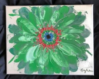 Original Oil Painting- Flower, Gerbera Daisy