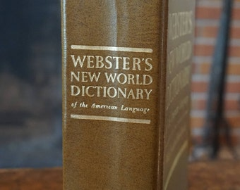 Webster's New World Dictionary 1969 Edition with Student Handbook Enlarged from Concise Edition/ Color Presidential Illustrations
