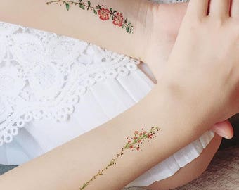 Vintage Flower Temporary Tattoo by PAPERSELF