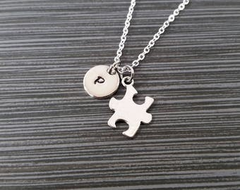 Puzzle Piece Necklace - Custom Gift - Puzzle Piece Gift - Autism Awareness - Autism Mom - Teacher Gift - Gift for Mom - Necklace Gift