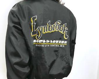 Vintage Nylon Bowling Bomber Jacket