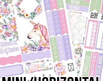Unicorn Daydream Mini/Horizontal Kit - Planner Stickers