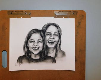 Custom Charcoal Portrait - 2 People