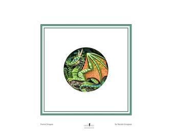 Mini Print 'Forest Dragon' Art Print