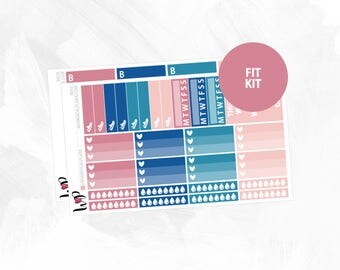 Rosé Fit Kit | Matte Glossy Planner Stickers