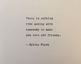 Sylvia Plath quote hand typed on antique typewriter scrapbooking