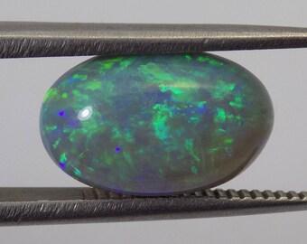 Stunning 3 ct semi black Australian opal 12.25x7.5x5