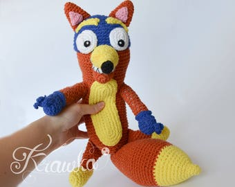 Crochet PATTERN No 1726 Fox swiper by Krawka