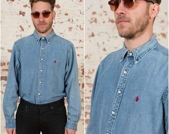 RALPH LAUREN / Denim Shirt / XL