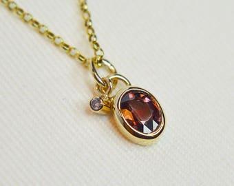 Diamond kiss Zircon Necklace