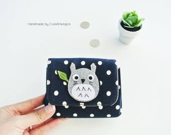 Guardian Totoro Coin Purse, Vegan Coin Wallet, Change Purse, Small Wallet Purse, Card Pouch, Cash Wallet, Gift for Daughter - Made to Order