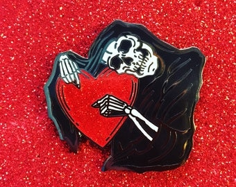 "Reaper ""Eternal Sweet"" 1.5"" Glitter Enamel Pin"
