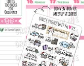 Munchkins -  Convention and Meetup Bucket List Planner Stickers (M394)