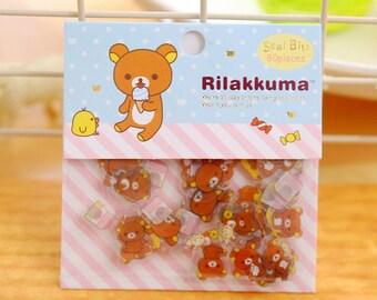 Rilakkuma Stickers / Rilakkuma Sticker Flakes / Kawaii Stickers / Cute Stickers / San-X Stationery / San-X Stickers / Rilakkuma Stationery