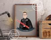 Custom Portrait Movie Themed Star Wars Print Boyfriend Gift Best Friend Gift Darth Vader Stormtrooper Personalized Gift Valentine's Day Gift