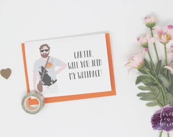 Will You Join My Wolfpack? | Will You Be My Best Man / Groomsmen Cards | Alan The Hangover | Personalised Wedding Card | Greeting Card #14