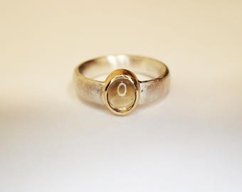 Ring Silver 18 ktGold Tourmaline