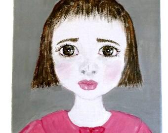 """Painted canvas collection """"Les Zélie"""" 24 x 18 cm"""