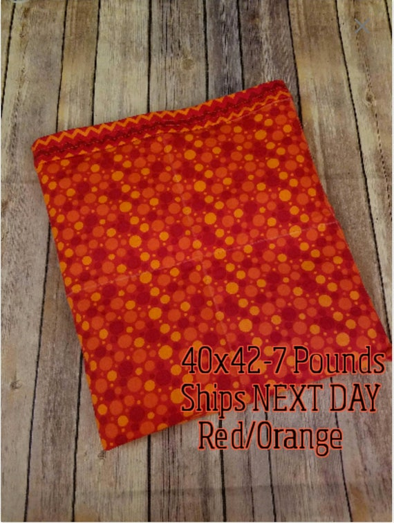 Red Bubbles, 7 Pound, WEIGHTED BLANKET, Ready To Ship, 7 pounds, 40x42 for Autism, Sensory, Calming, adhd, calming blanket