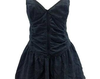 Black corset dress spaguetti adjustable straps