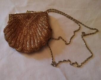 Vintage LA Regale Gold Beaded Purse