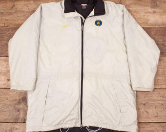 "Mens Vintage Nike Team Cream Padded Inter Milan Winter Jacket XL 48"" R7186"