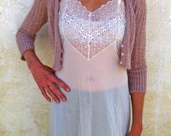 Vintage White Eyelet Lace Slip/White Petticoat/Women's Lingerie/Small Slip/Slip Dress/White Lingerie/Eyelet Lace Trim/Knee Length Slip