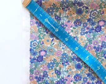 Made to Order Bias Tape or Quilt Binding, Handmade Bias Tape, Handmade Quilt Binding, 100% Cotton, Sevenberry, Floral, Blue, Petite Garden
