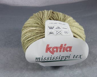 skein yarn Katia katia Mississippi Tex Brown gradient yarn, yarn cotton and acrylic yarns, knitting, crochet work work, cotton baby