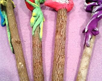 Wooden Animal Pencils, Handmade Animal Pencils, Pencils, Back To School, Planner Supplies