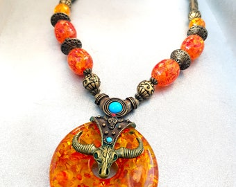 "Ethnic necklace with "" Viking"" Inspiration"