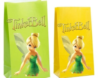 Tinkerbell Party Favor gift Bag ~Tinkerbell birthday Party Inspired Decorations & Decor
