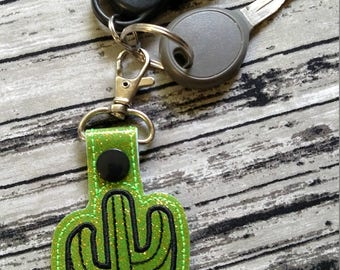 Cactus Keychain, Snaptab, Zipper Pull
