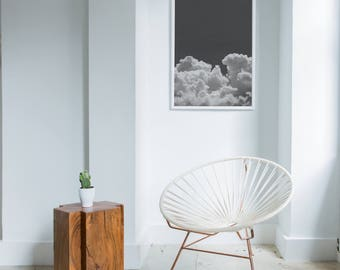 Cloud Photography, Black And White Cloud Print DIGITAL DOWNLOAD Print, Nature Wall Art, Large Art Print, Cloud Wall Art, Printable Art 24x36