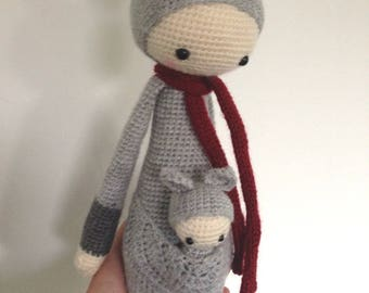 Great doll Kira the Kangaroo and her lalylala baby blanket, plush, cadeaubde birth, room decoration
