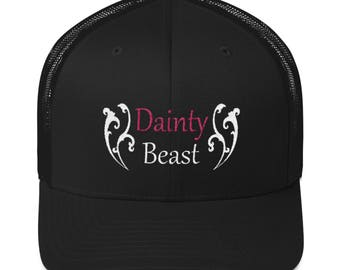 Cool Gym Hat, Workout Hats, Trucker Hat, Gym Snap Back, Dainty Beast, Beast Hat