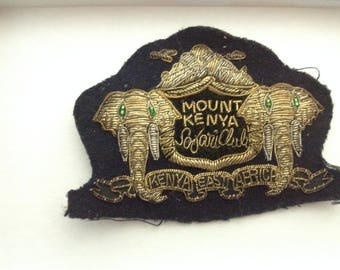 Mount Kenya Safari Club Patch William Holden Vintage Patch Club Kenya East Africa
