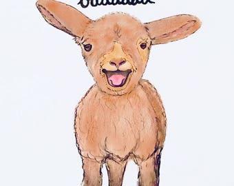 missing ewe so baaaaad - card + envelope