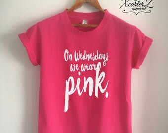 On Wednesday We Wear Pink Shirt Tumblr Girls Shirt WOMEN MEN Unisex T-Shirt