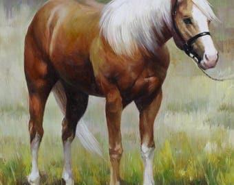 Custom Pet Portrait. Custom Horse Painting. Equine Portrait. Horse Portrait. Horse Commission. Horse Memorial. Cowgirl Painting.