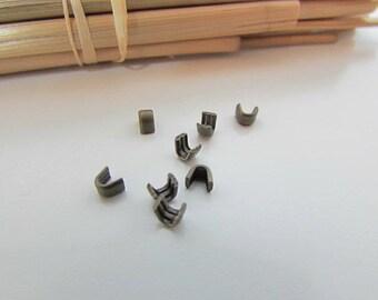 50 arrêt pour fermeture à glissière num 3  - métal couleur bronze -11.52